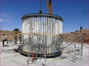 os parafusos de fixação para torres eólicas