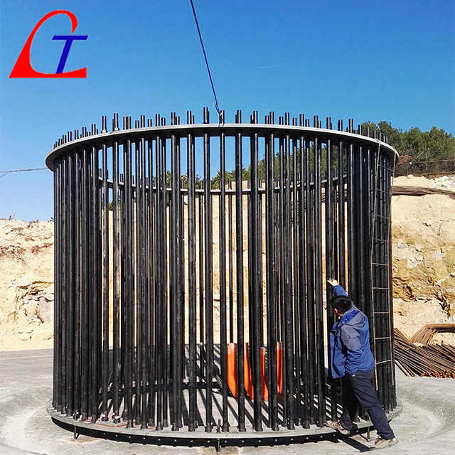 Wind tower foundation anchor cage ASTM A615 Gr 75 Pre-assembled threaded bar cage Featured Image