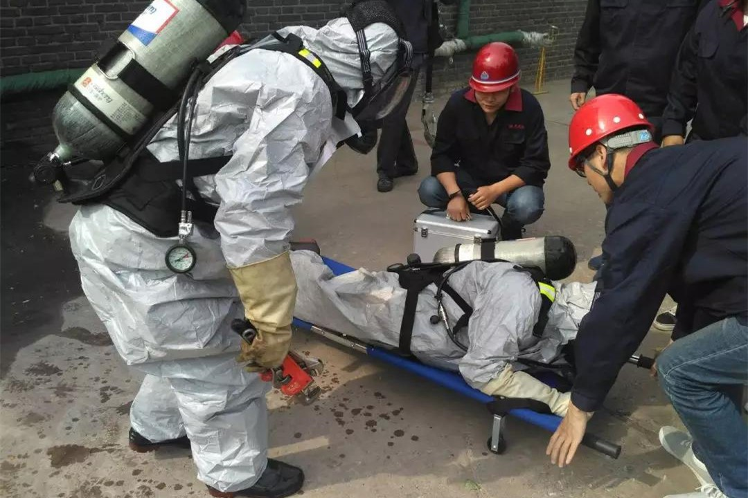 Ammonia Leakage Emergency Rescue Drill