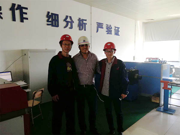 Tunisian customers visit our factory