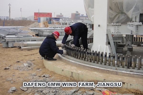 PARQUE EÓLICO DAFENG 6MW, JIANGSU
