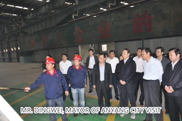 MR. DINGWEI, MAYOR OF ANYANG CITY VISIT