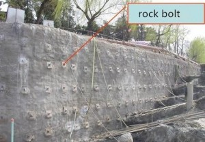 Slope Stabilization Shotcrete Work Rock bolt