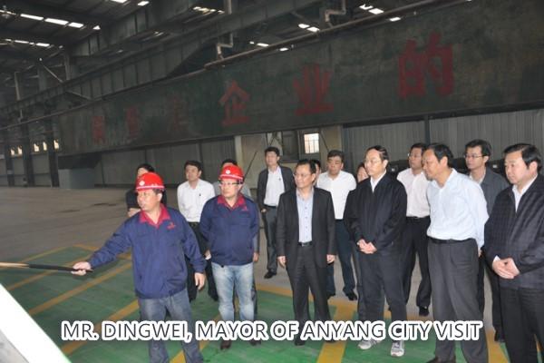 MR. DINGWEI, MAYOR OF ANYANG CITY VISIT